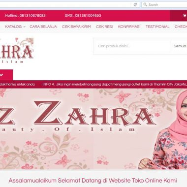 Website Pusat Busana Syar'i